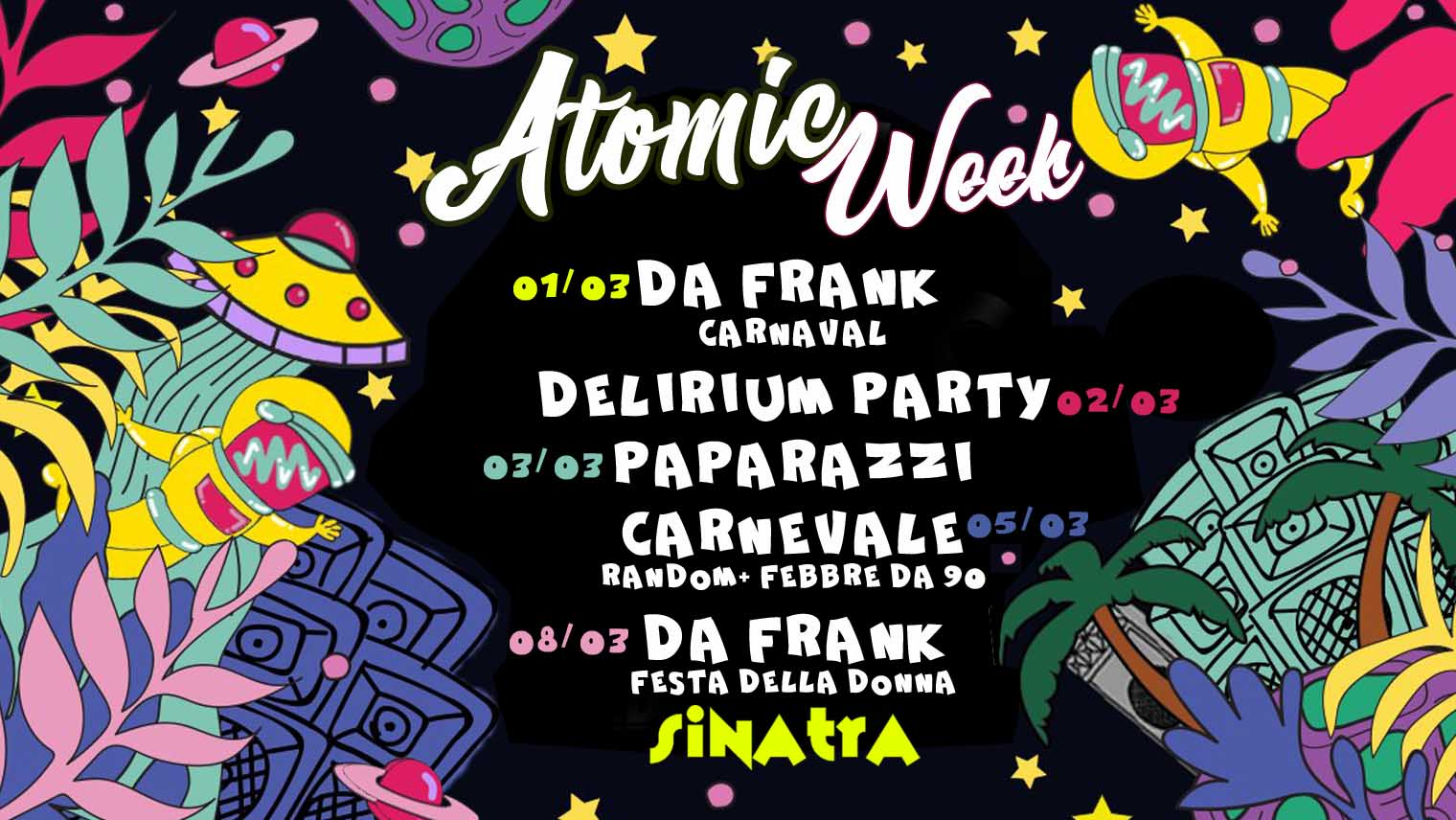 ATOMIC week di carnevale